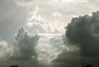 雨雲、過ぎ去る。